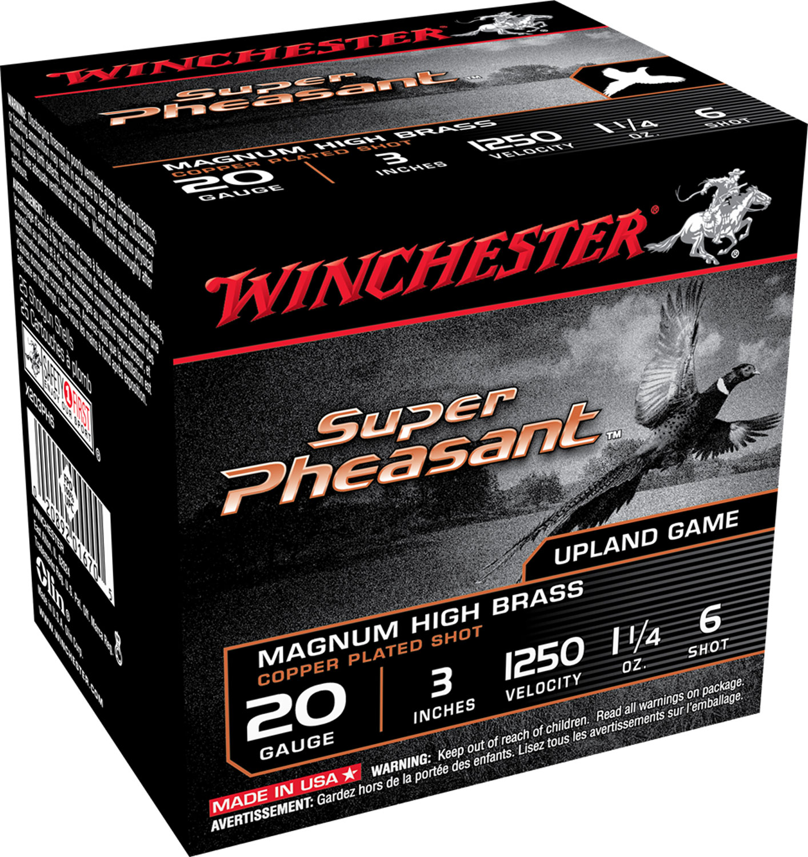Winchester Ammo X203PH6 Super Pheasant HV High Brass  20 Gauge 3