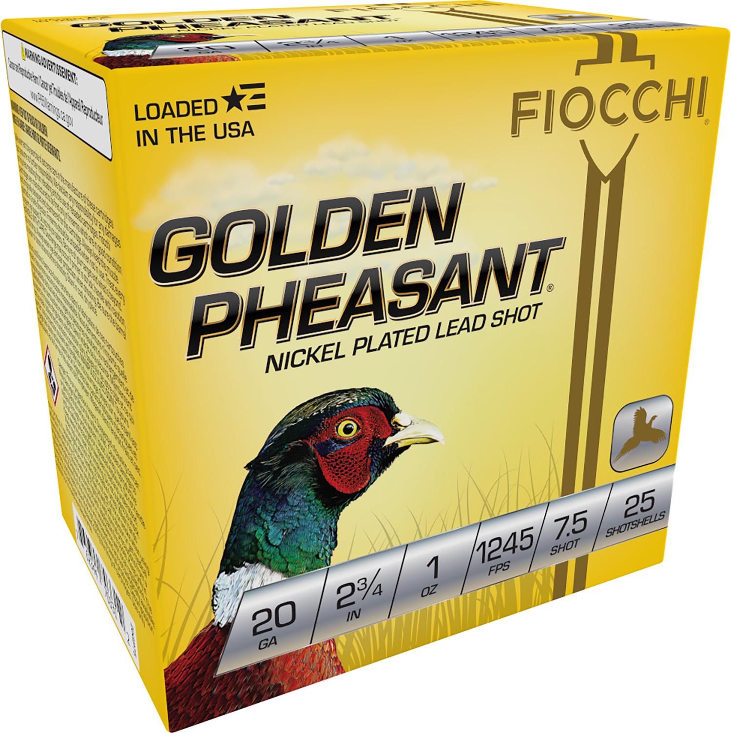 Fiocchi 20GP75 Extrema Golden Pheasant  20 Gauge 2.75