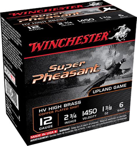 Winchester Ammo X12PHV6 Super Pheasant HV High Brass  12 Gauge 2.75
