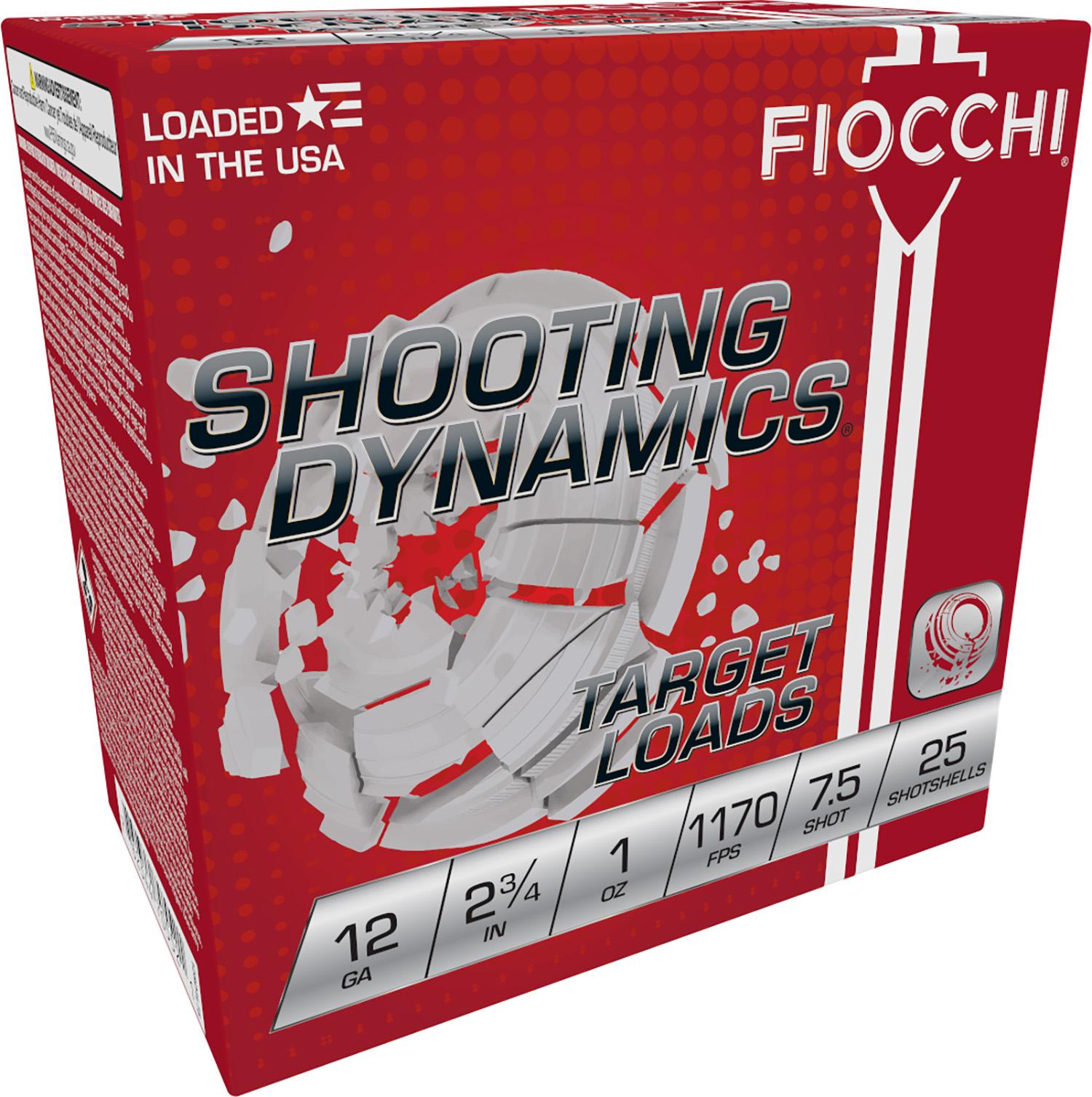 Fiocchi 12SD1L75 Shooting Dynamics Light Dynamic  12 Gauge 2.75