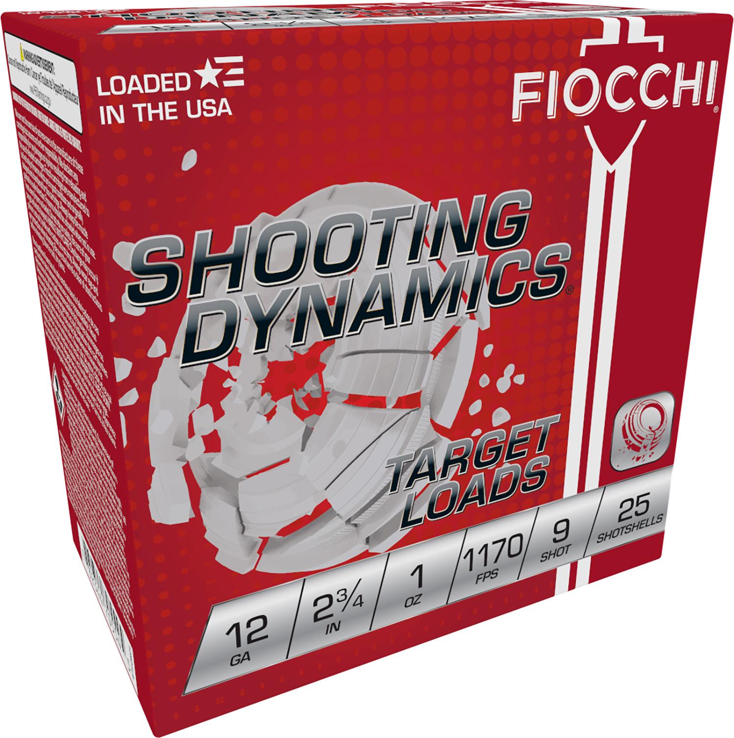 Fiocchi 12SD1L9 Shooting Dynamics Light Dynamic  12 Gauge 2.75