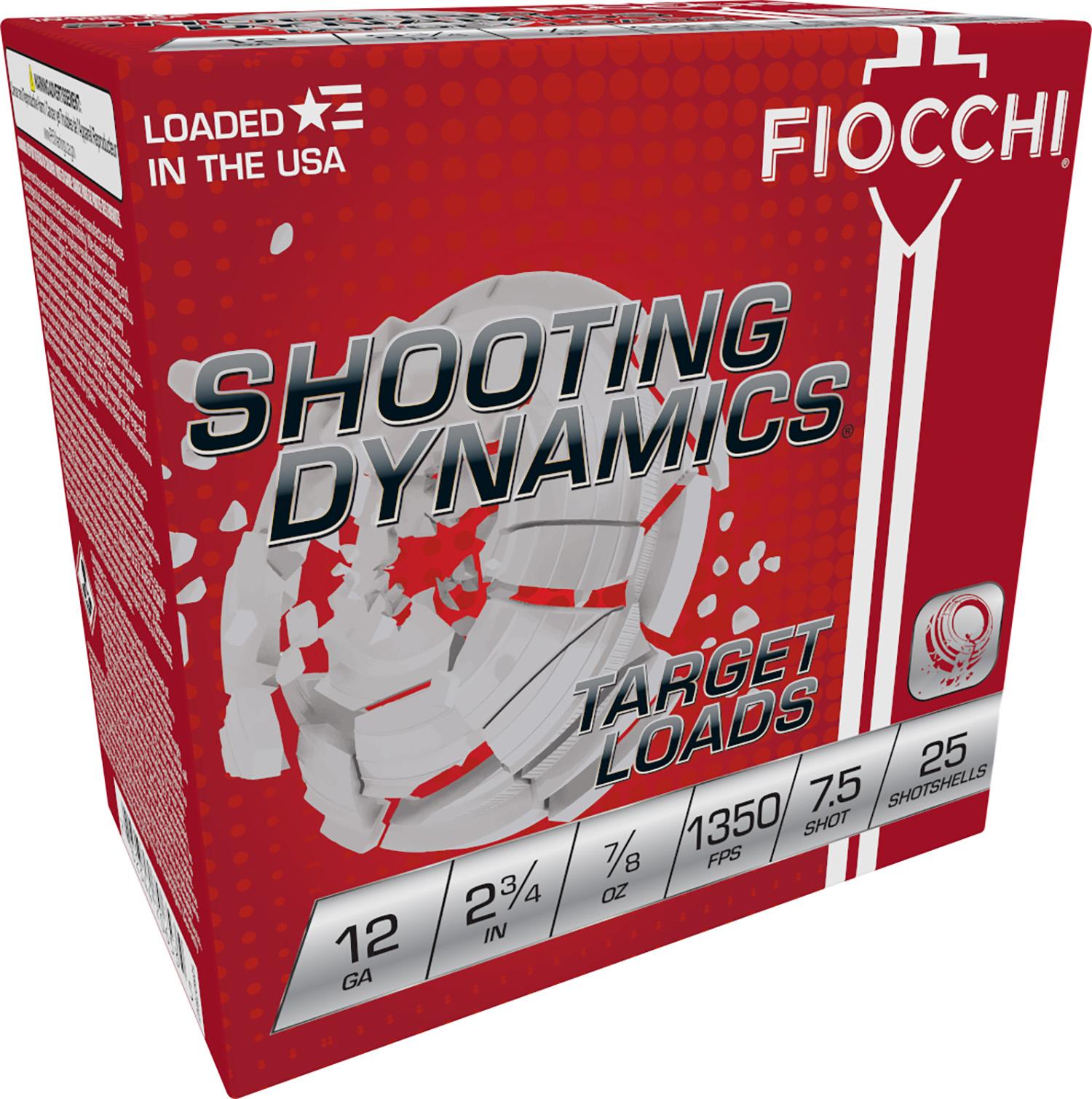 Fiocchi 12SD78H75 Shooting Dynamics Semi-Auto Friendly 12 Gauge 2.75