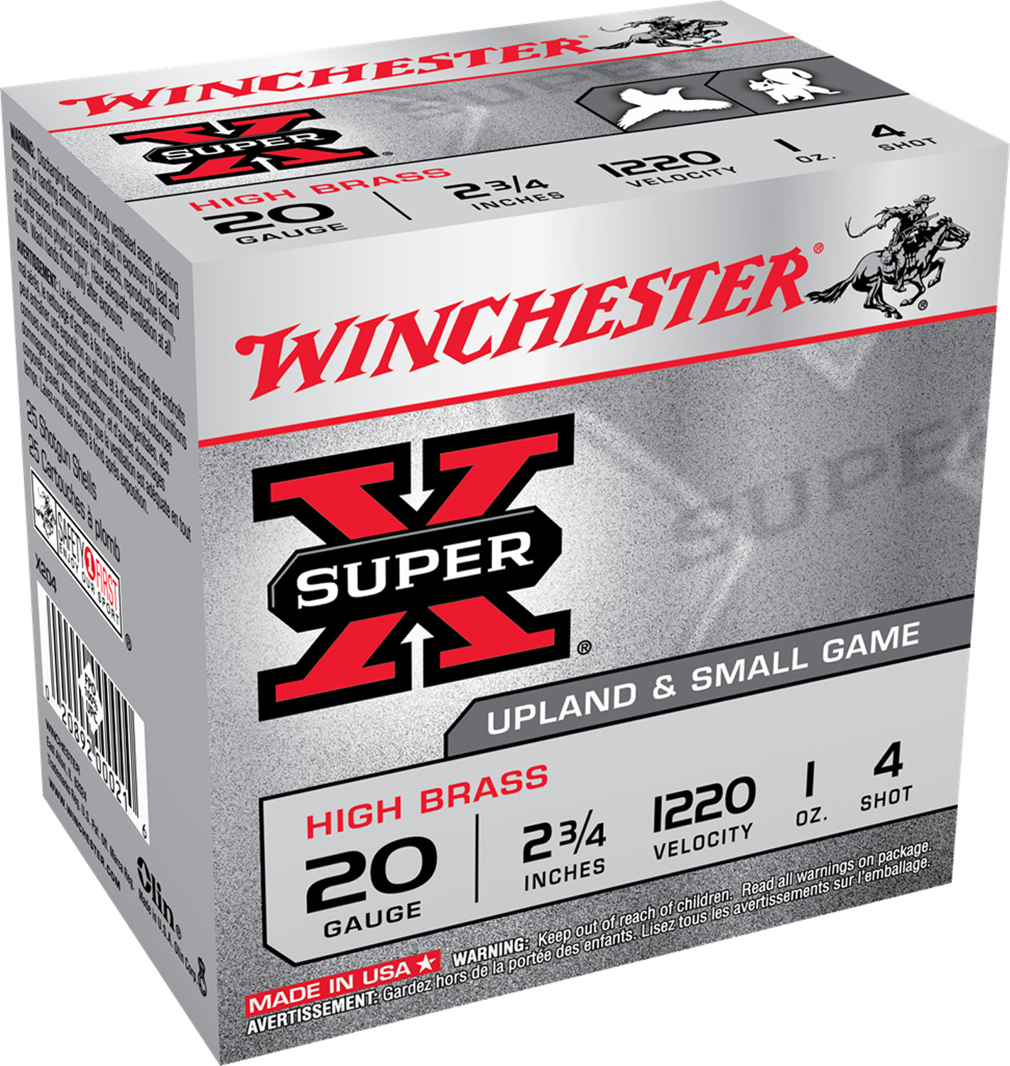 Winchester Ammo X204 Super-X High Brass  20 Gauge 2.75