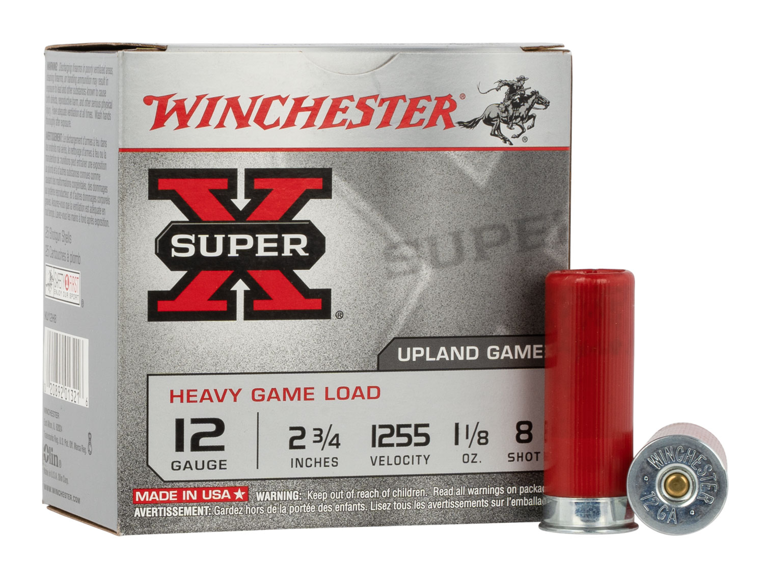 Winchester Ammo XU12H8 Super-X Heavy Game Load  12 Gauge 2.75