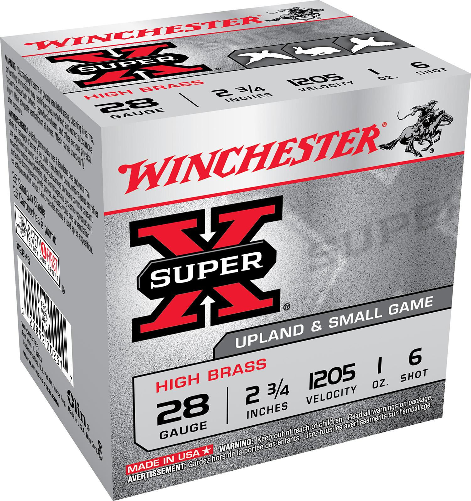 Winchester Ammo X28H6 Super-X High Brass  28 Gauge 2.75