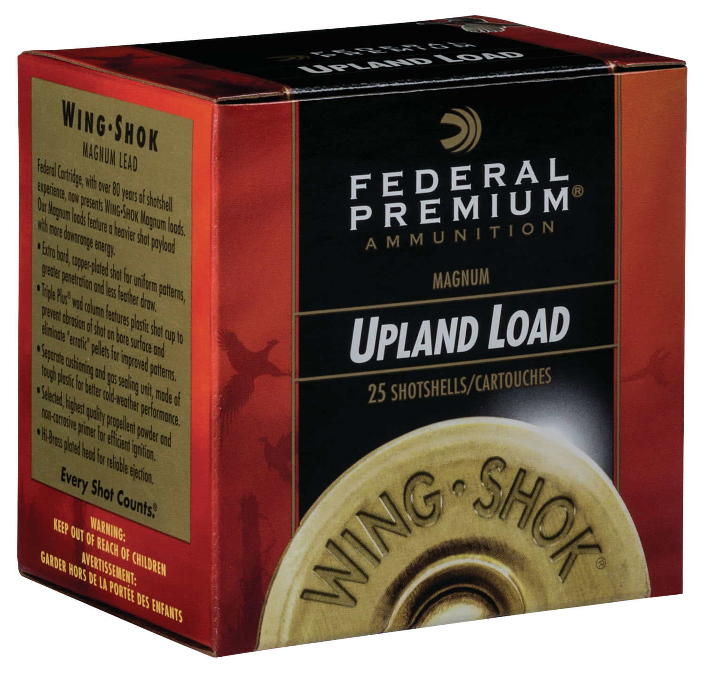 Federal P1386 Premium Upland Wing-Shok High Velocity  12 Gauge 2.75