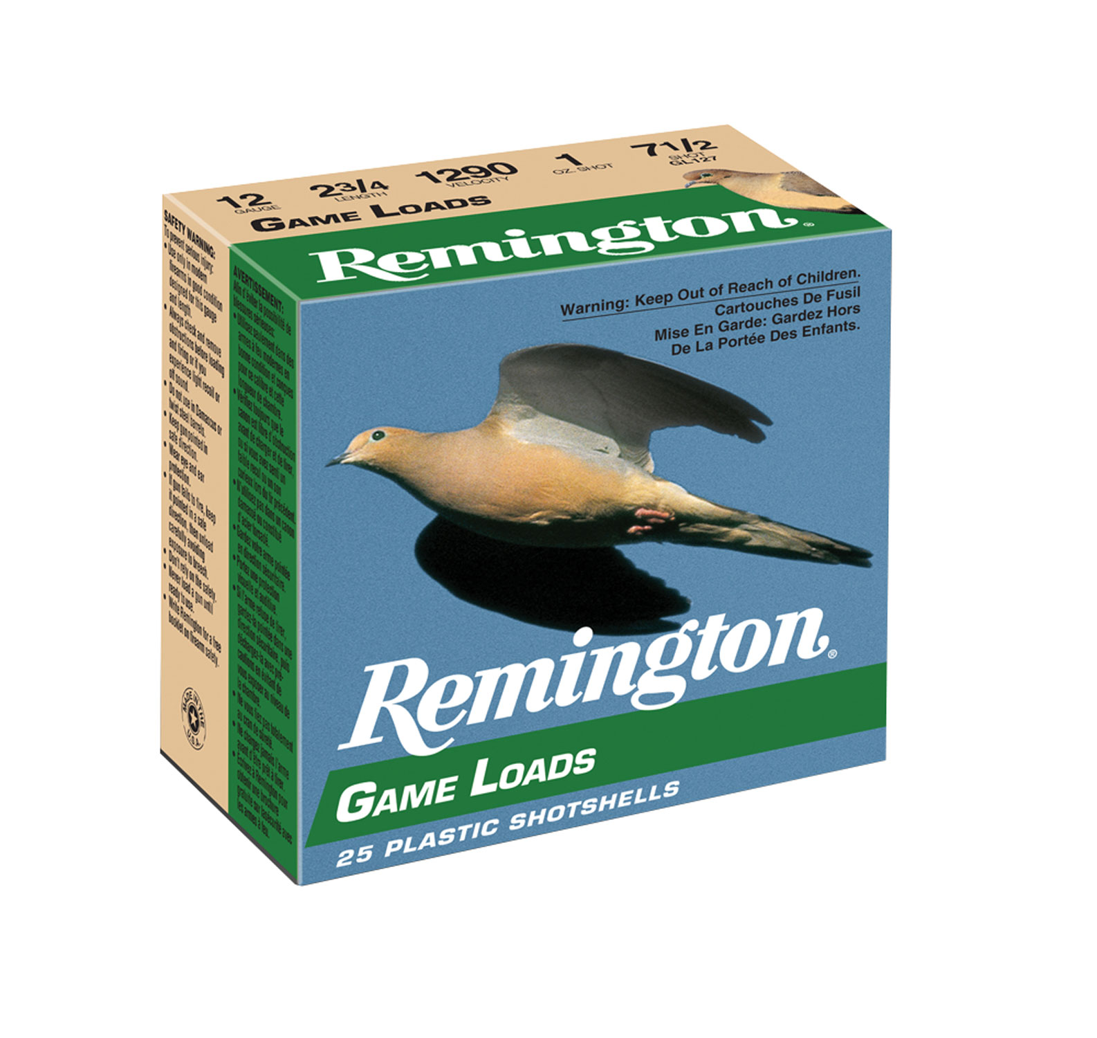 Remington Ammunition GL1275 Lead Game Loads   12 Gauge 2.75