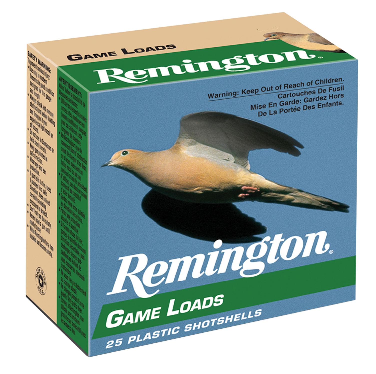 Remington Ammunition GL2075 Lead Game Loads   20 Gauge 2.75
