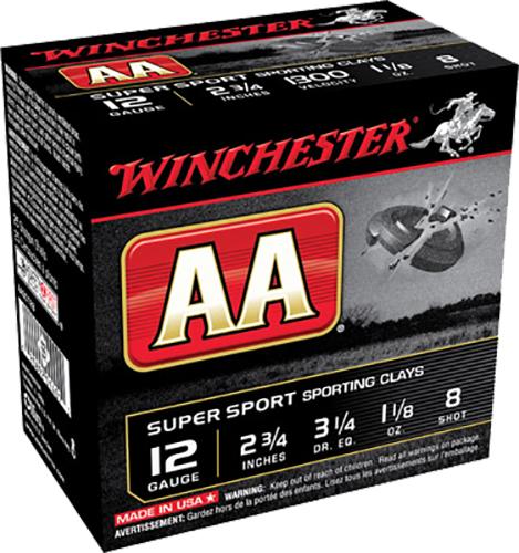 Winchester Ammo AASC128 AA Super Sport 12 Gauge 2.75