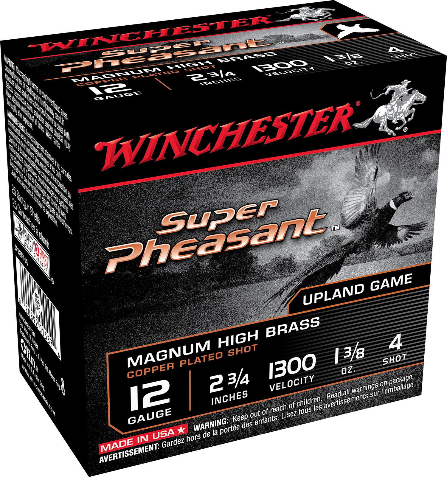 Winchester Ammo X12PH4 Super Pheasant Magnum High Brass  12 Gauge 2.75