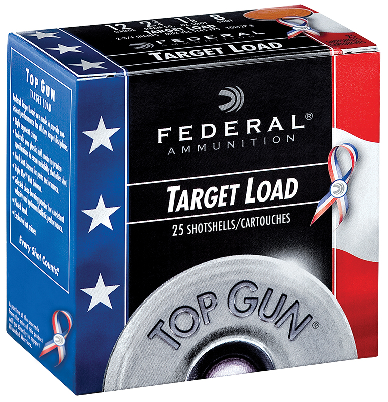 Federal TGL12US8 Top Gun Special Edition Red, White & Blue 12 Gauge 2.75