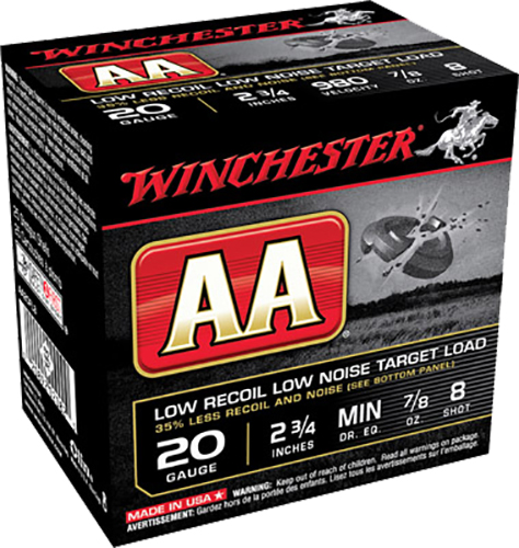 Winchester Ammo AA20FL8 AA Low Recoil Low Noise  20 Gauge 2.75