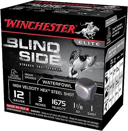 Winchester Ammo SBS12LHVBB Blindside High Velocity  12 Gauge 3.5