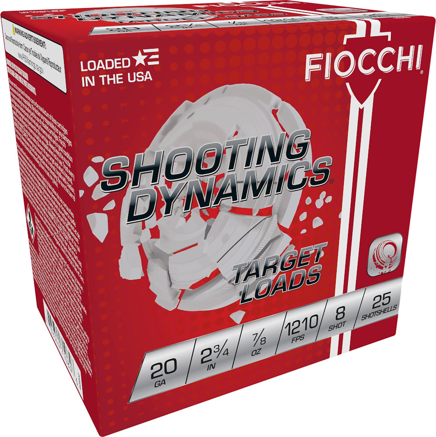 Fiocchi 20SD8 Shooting Dynamics Heavy Dynamic 20 Gauge 2.75