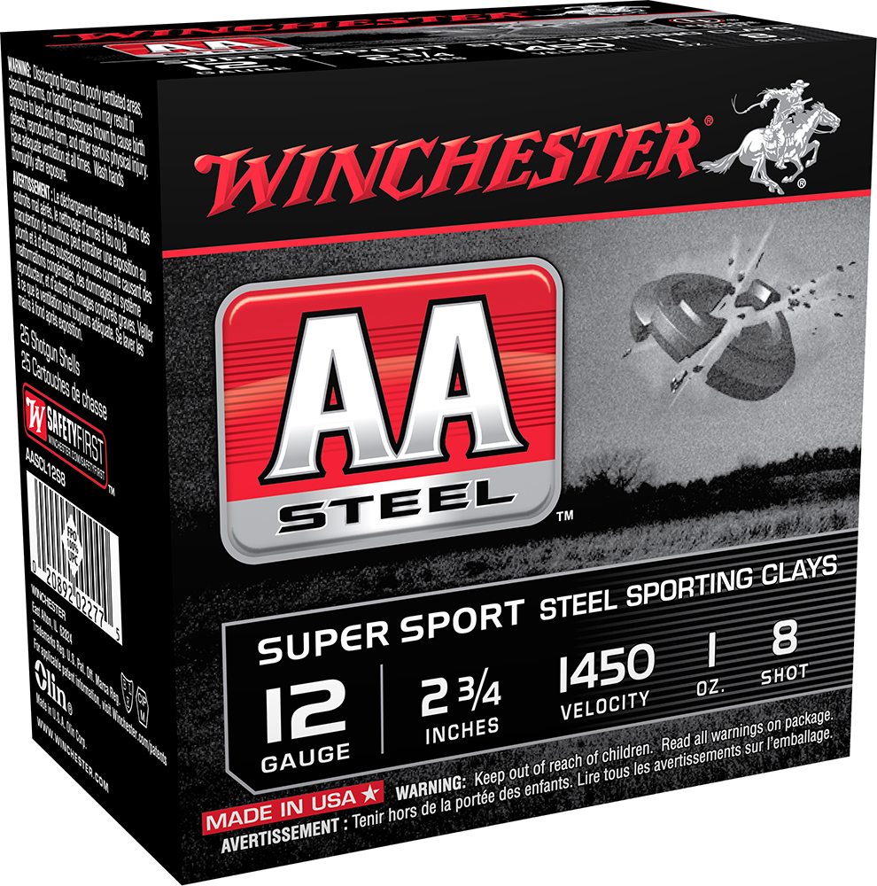 Winchester Ammo AASCL12S8 AA Steel   12 Gauge 2.75