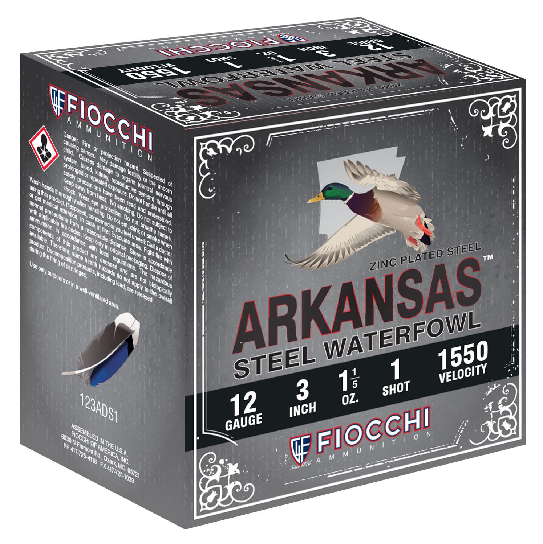Fiocchi 123ADS1 Arkansas Steel   12 Gauge 3
