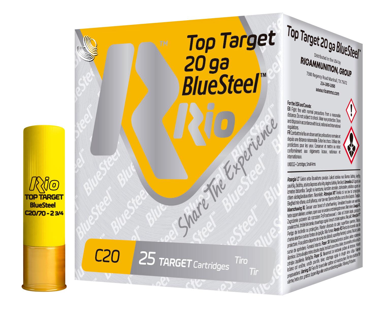 RIO AMMUNITION TTBS207 Top Target BlueSteel 20 Gauge 2.75