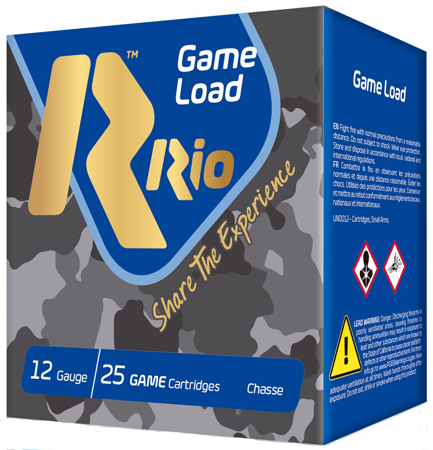 RIO AMMUNITION SG328 Game Load Super Game High Velocity 12 Gauge 2.75