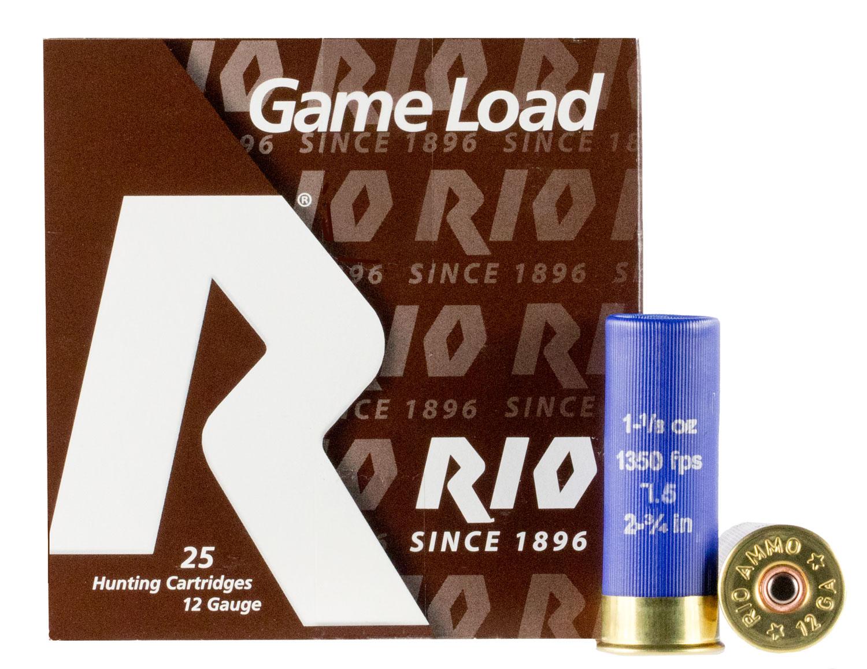 Rio Ammunition SGHV3275 Game Load Super Game High Velocity  12 Gauge 2.75