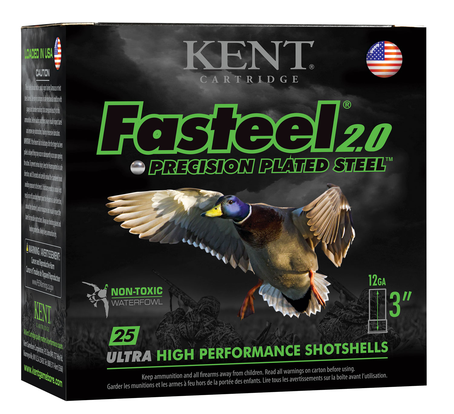 Kent Cartridge K123FS322 Fasteel 2.0  12 Gauge 3