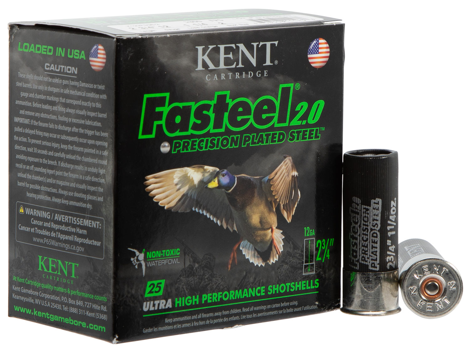 Kent Cartridge K122FS362 Fasteel 2.0  12 Gauge 2.75