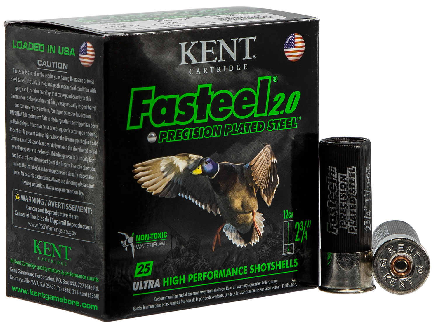 Kent Cartridge K122FS304 Fasteel 2.0  12 Gauge 2.75
