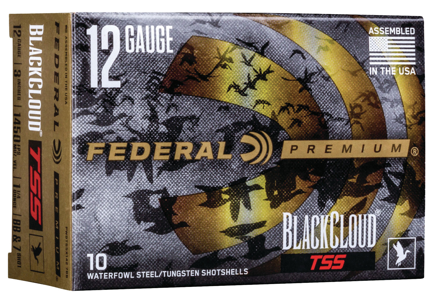 Federal PWBTSSX1427B Black Cloud TSS 12 Gauge 3