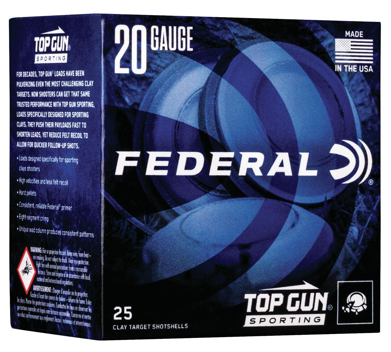 Federal TGS22475 Top Gun Sporting  20 Gauge 2.75