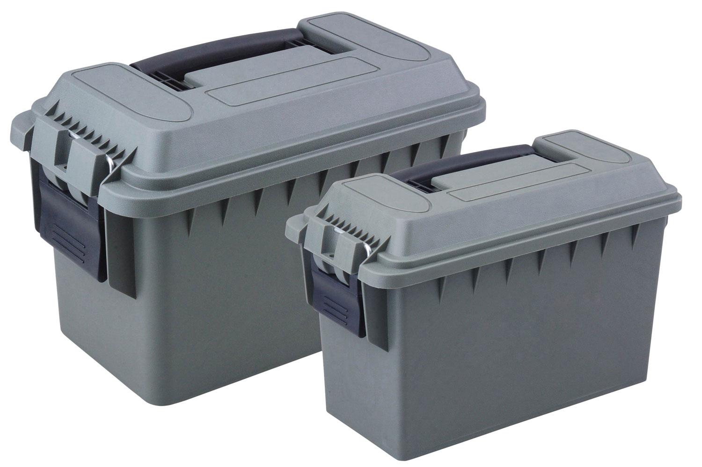 Reliant 10125 2-Piece Ammo Box  30 Cal 50 Cal Green Plastic