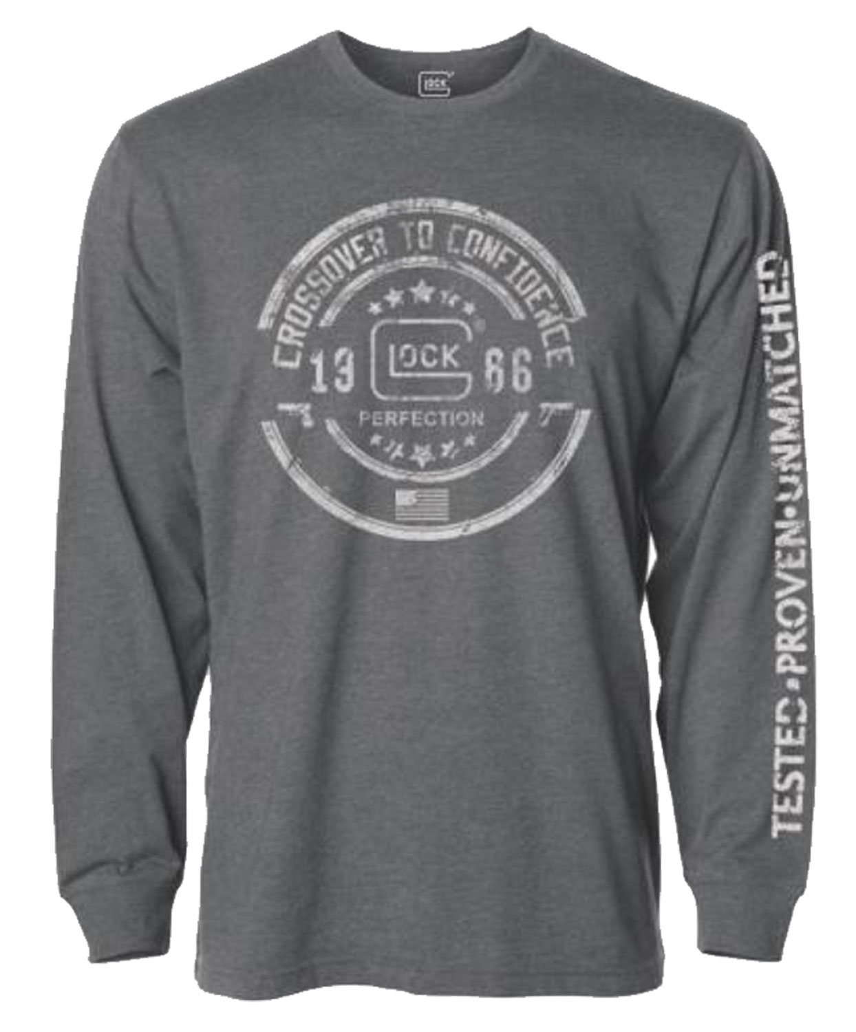 GLOCK CROSSOVER LONG SLEEVE T-SHIRT GREY 3XL