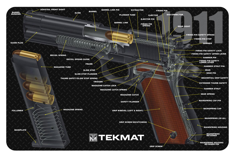 BECK TEK, LLC (TEKMAT) R171911CA 1911 3D Cutaway Cleaning Mat Printed Diagram 17