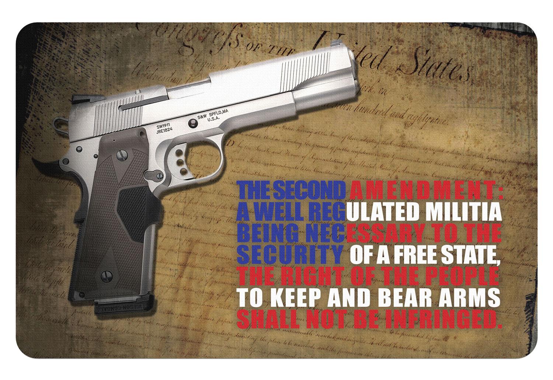 BECK TEK, LLC (TEKMAT) R172AMEND Right To Bear Arms  Cleaning Mat 2nd Amendment 17