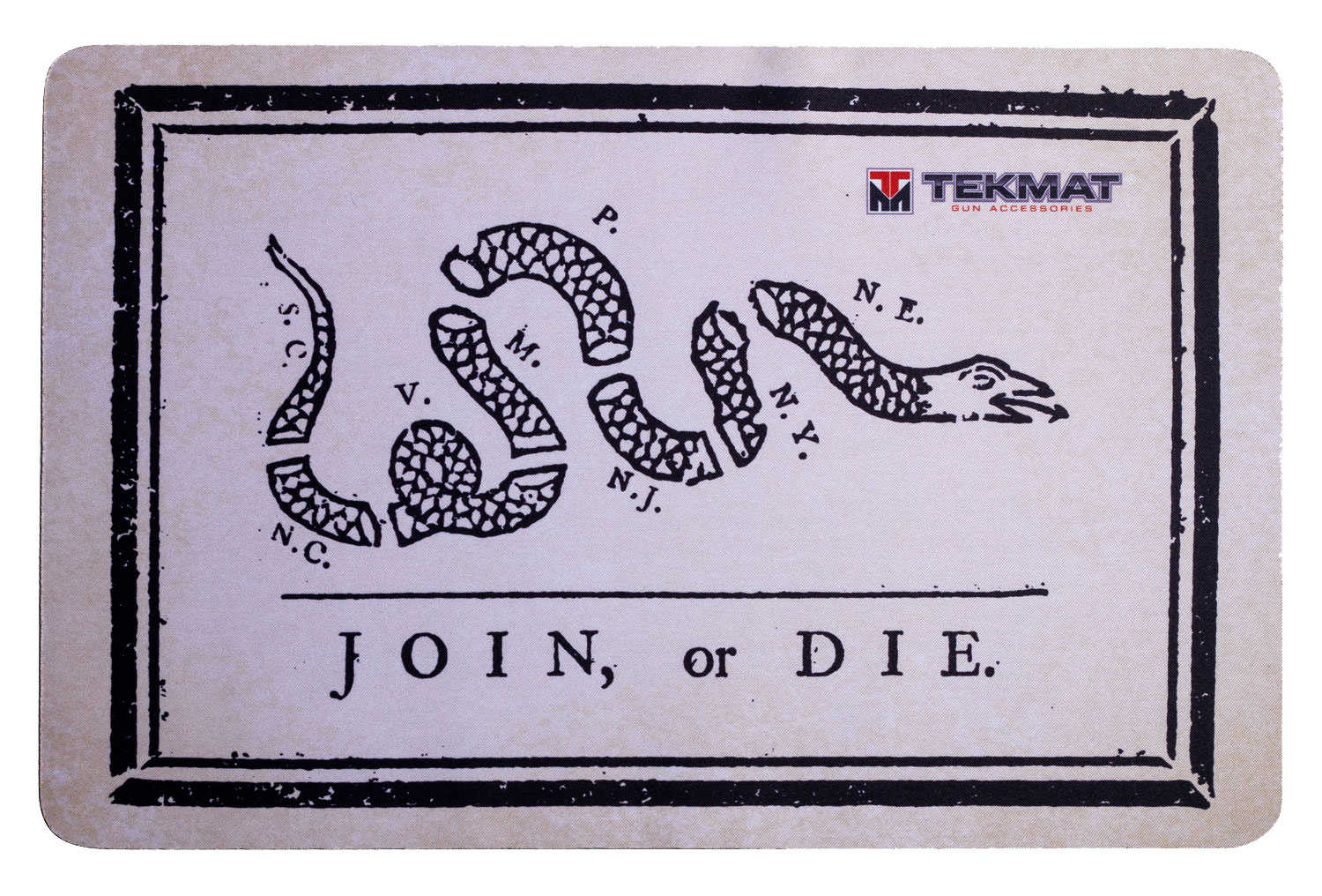 BECK TEK, LLC (TEKMAT) R17JOIN Join or Die  Cleaning Mat Join or Die Snake 17