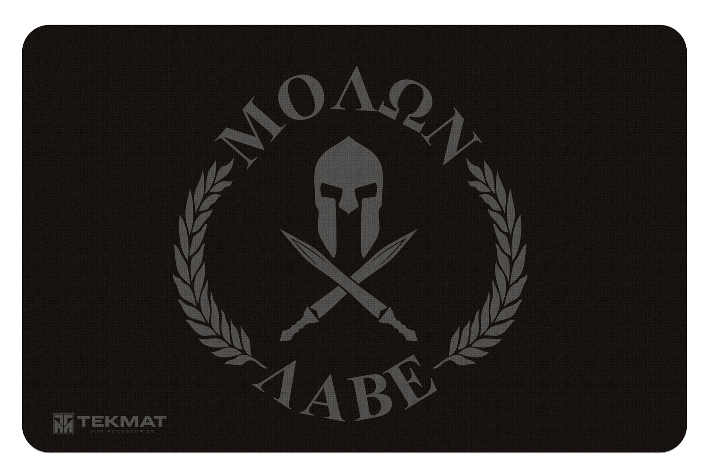 BECK TEK, LLC (TEKMAT) R17MOLONLABE Molon Labe  Cleaning Mat Molon Labe Spartan 17