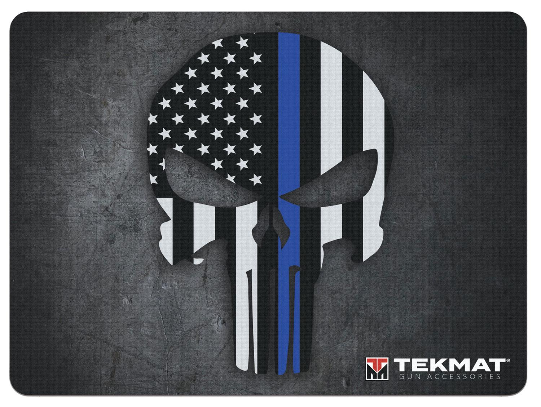BECK TEK, LLC (TEKMAT) R20PUNISHER Punisher Ultra Premium Cleaning Mat Blue Line Punisher Skull 20