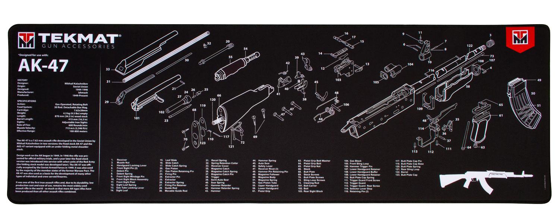 BECK TEK, LLC (TEKMAT) R44AK47 AK-47 Ultra Premium Cleaning Mat AK-47 Parts Diagram 44