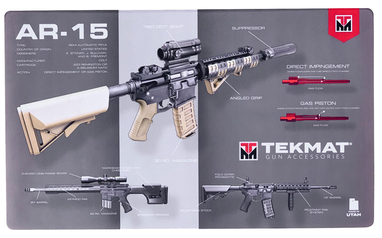 BECK TEK, LLC (TEKMAT) 42AR15WPD AR-15 Weapons Platform Design Door Mat AR-15 Design 25