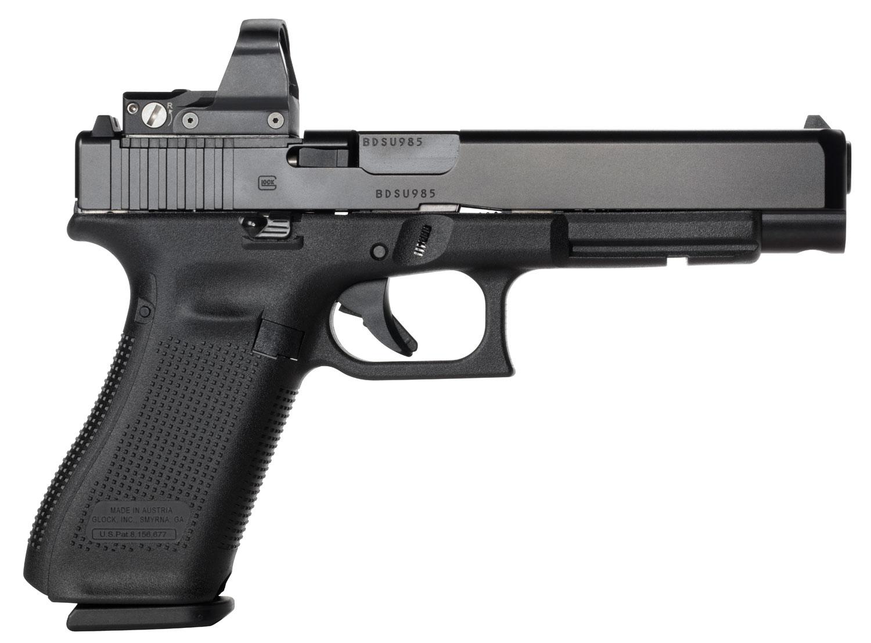 Glock PR34555FSMOS G34 Gen 5 MOS Rebuilt  9mm Luger 17+1 Black Black Interchangeable Backstrap Grip