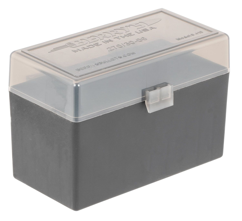 Berrys 32019 410 Ammo Box 270 Win,30-06 Springfield 50rd Smoke Lid w/Black Bottom