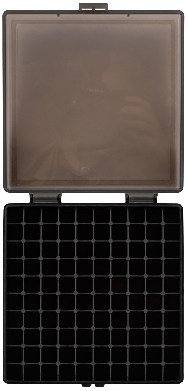 Berrys 92199 008 Ammo Box 40 S&W,45 ACP 100rd Smoke Lid w/Black Bottom