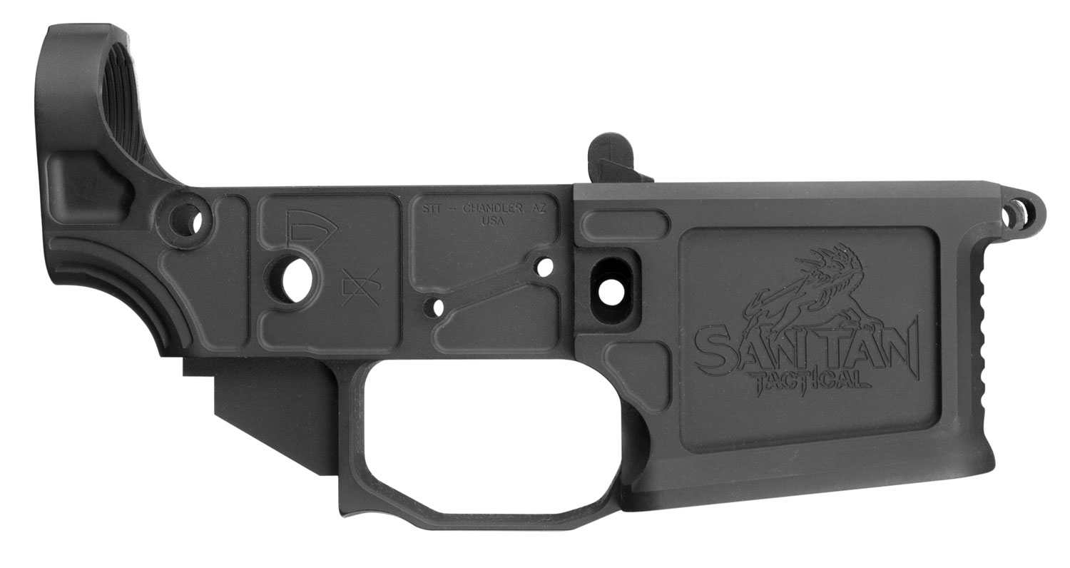 SAN TAN TACTICAL STT15LLITELOWER STT-15 Lite Multi-Caliber Black Anodized