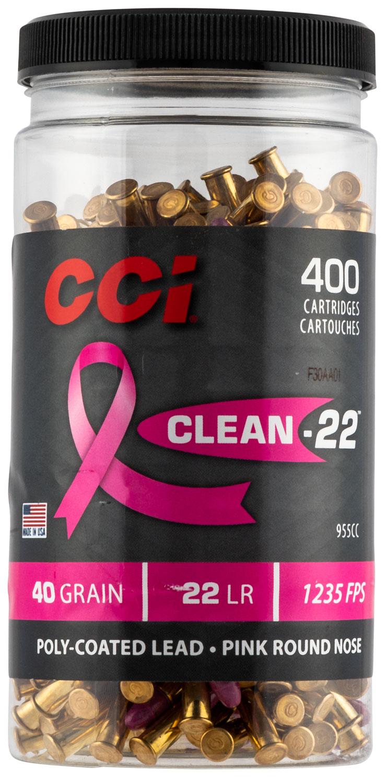 CCI CLN-22 PINK HV 22LR 40GR BTL 400