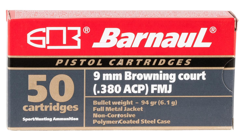 Barnaul Ammo Pistol 380 ACP 94 gr Full Metal Jacket (FMJ)