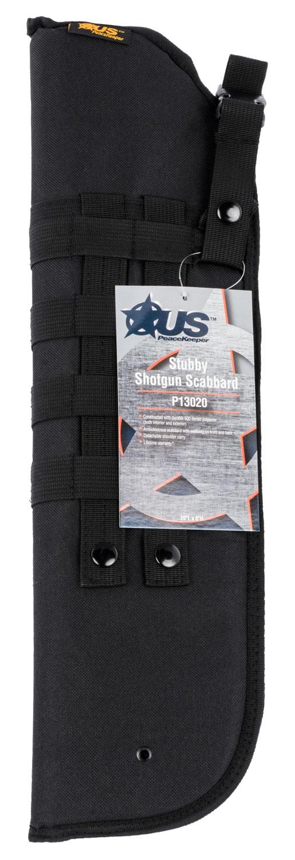 US PeaceKeeper P13020 Shotgun Scabbard Stubby Black 600 Denier Polyester 20