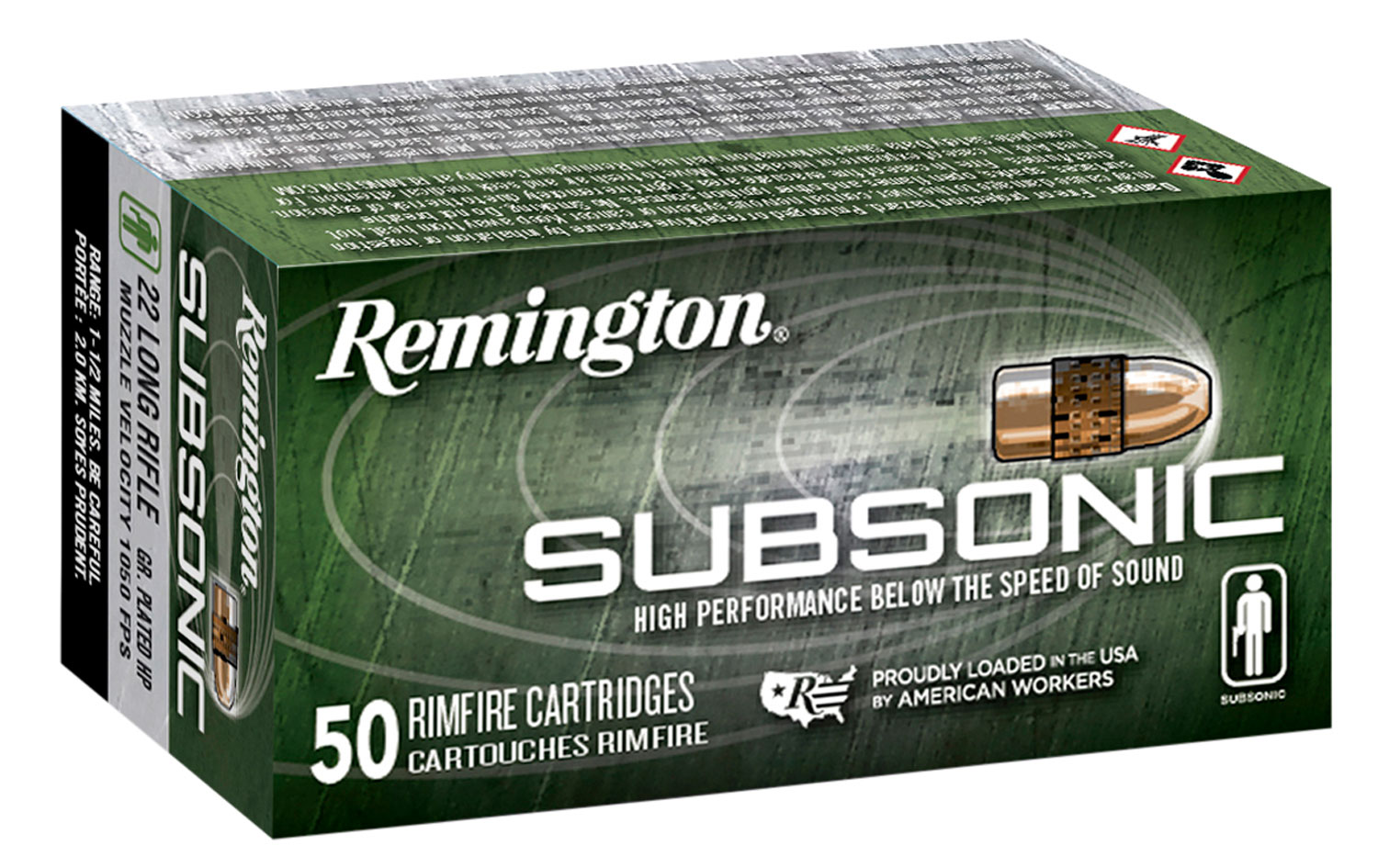 Remington Ammunition S22HPA Subsonic  22 LR 40 gr Plated Hollow Point 50 Bx/ 100 Cs