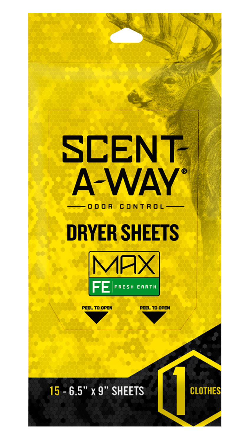 Scent-A-Way Max Dryer Sheets  <br>  Fresh Earth 15 pk.