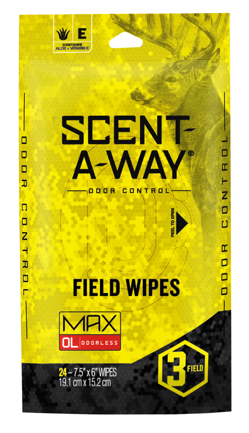 Scent-A-Way Max Field Wipes  <br>  24 pk.