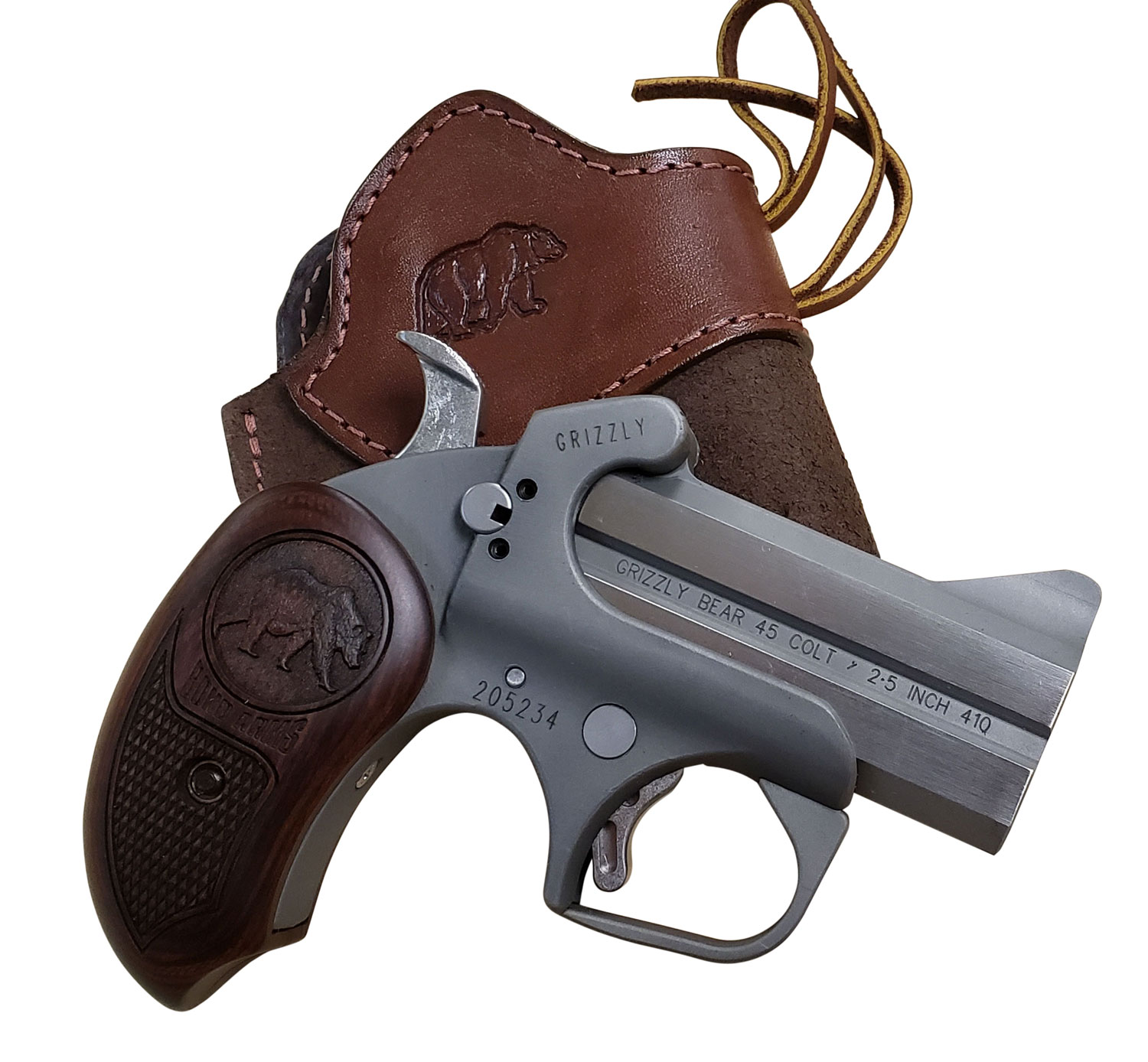 GRIZZLY 45LC/410 SS 3 FS HLST - ROSEWOOD GRIPS | HOLSTER