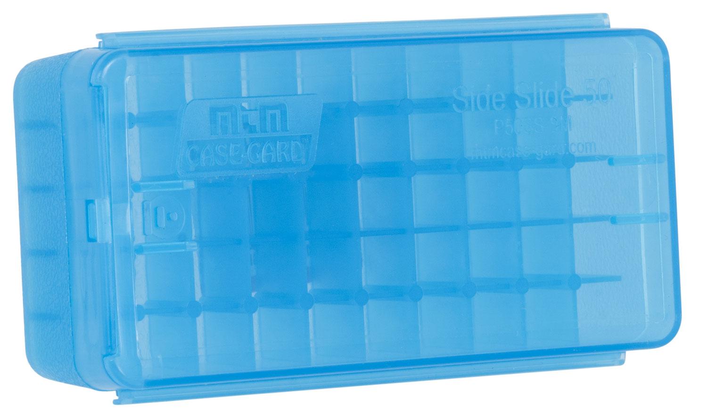 MTM AMMO BOX 9MM LUGER/.380ACP 50-ROUNDS SIDE SLIDE CL BLUE