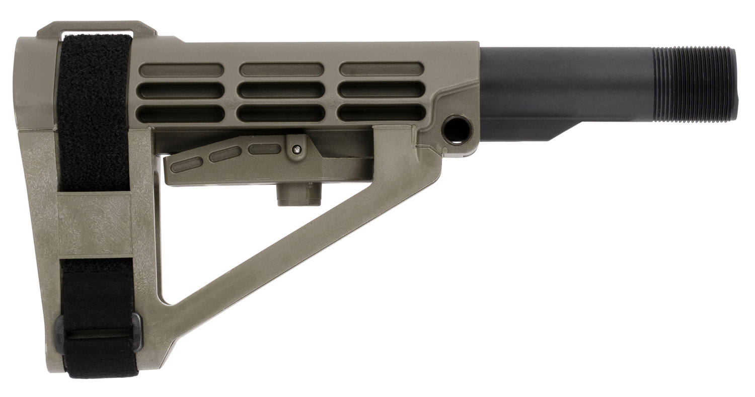 SB Tactical SBA404SB SBA4  AR with Mil-Spec Carbon Extension 5-Position OD Green